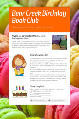 Bear Creek Birthday Book Club