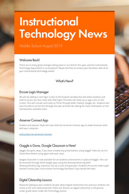 Instructional Technology News