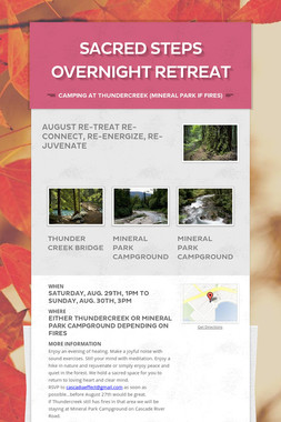 Sacred Steps Overnight Retreat