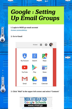 Google : Setting Up Email Groups