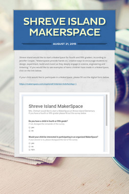 Shreve Island MakerSpace