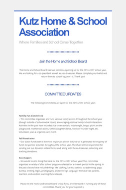 Kutz Home & School Association