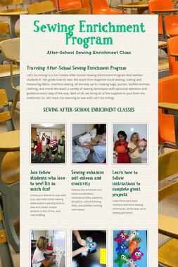 Sewing Enrichment Program