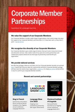 Corporate Member Partnerships