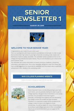 Senior Newsletter 1