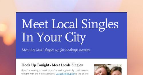 Meet singles in your area