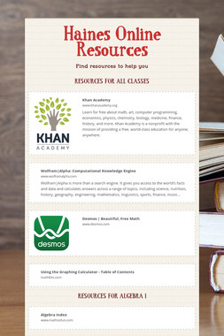 Haines Online Resources