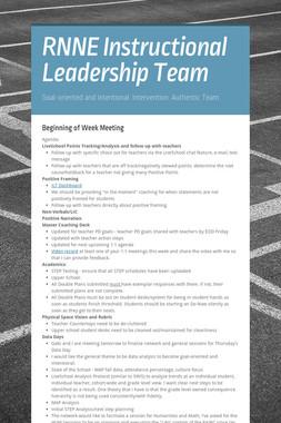 RNNE Instructional Leadership Team