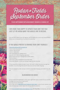Rodan+Fields September Order