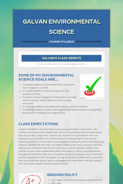 Galvan Environmental Science