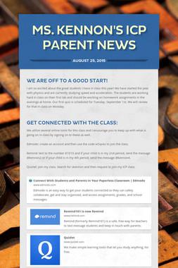 Ms. Kennon's ICP Parent News