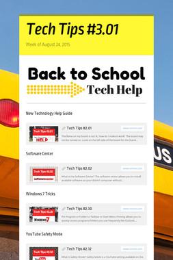 Tech Tips #3.01