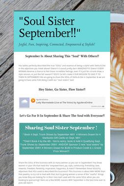 """""""Soul Sister September!!"""""""