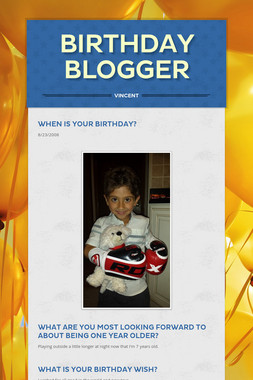 Birthday Blogger