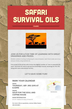 Safari Survival Oils