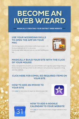 Become an iWeb Wizard