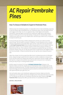 AC Repair Pembroke Pines