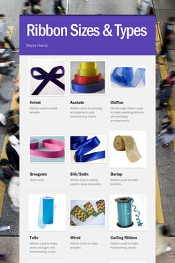Ribbon Sizes & Types
