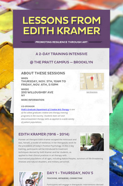 Lessons from Edith Kramer