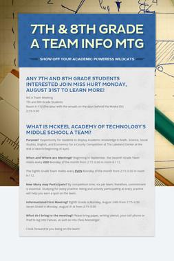 7th & 8th Grade A Team Info Mtg