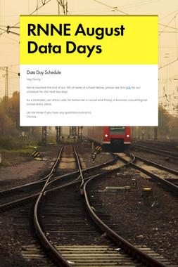 RNNE August Data Days