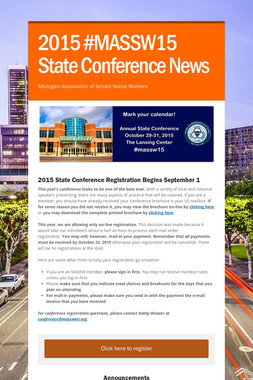 2015 #MASSW15 State Conference News