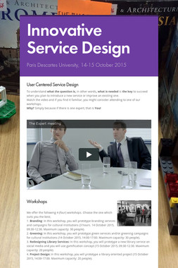 Innovative Service Design