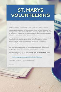 St. Marys Volunteering