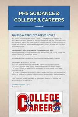 PHS Guidance & College & Careers