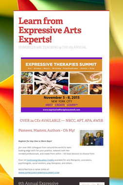 Learn from Expressive Arts Experts!