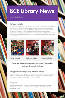 BCE Library News