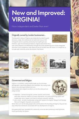 New and Improved: VIRGINIA!