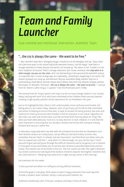 Team and Family Launcher