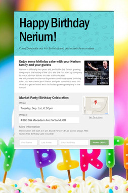 Happy Birthday Nerium!