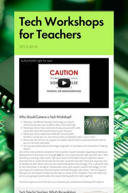 Tech Workshops for Teachers
