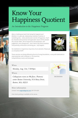 Know Your Happiness Quotient