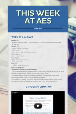 This Week at AES
