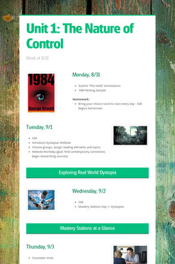 Unit 1: The Nature of Control