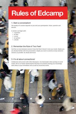 Rules of Edcamp