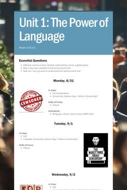 Unit 1: The Power of Language
