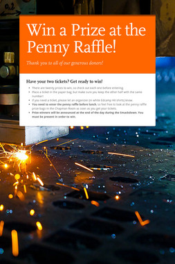 Win a Prize at the Penny Raffle!