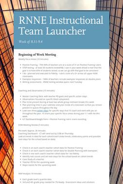 RNNE Instructional Team Launcher