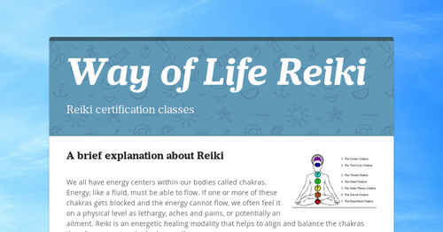 Way of Life Reiki | Smore Newsletters