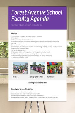 Forest Avenue School Faculty Agenda