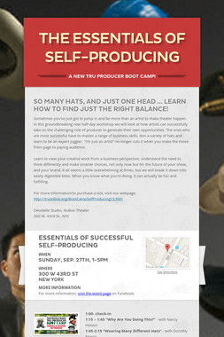 The Essentials of Self-Producing