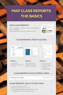 MAP Class Reports: The Basics