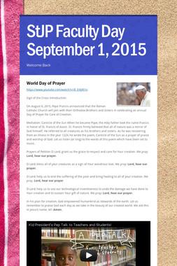 StJP Faculty Day September 1, 2015