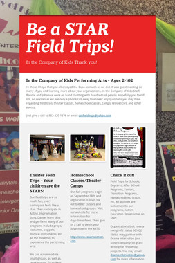 Be a STAR Field Trips!