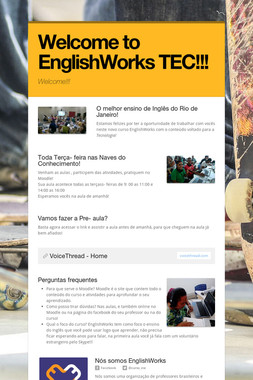 Welcome to EnglishWorks TEC!!!