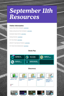 September 11th Resources